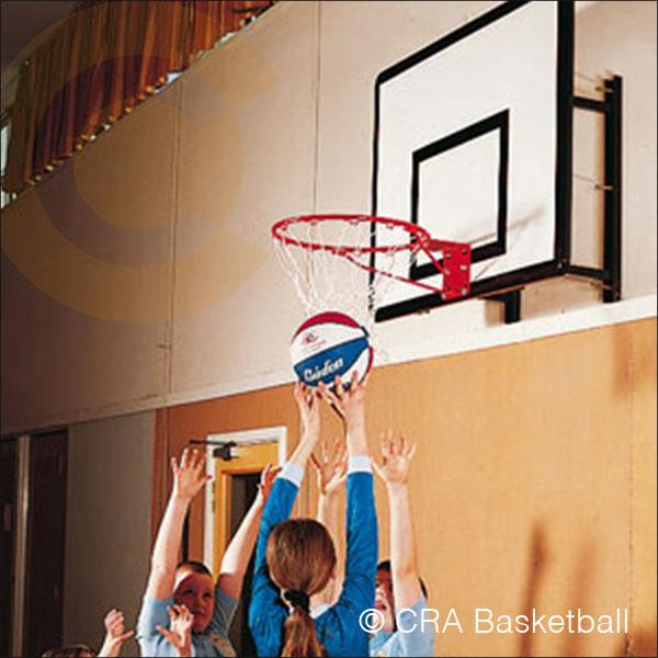 Outdoor wall fixed basketball goals for gardens for Basketball hoop inside garage