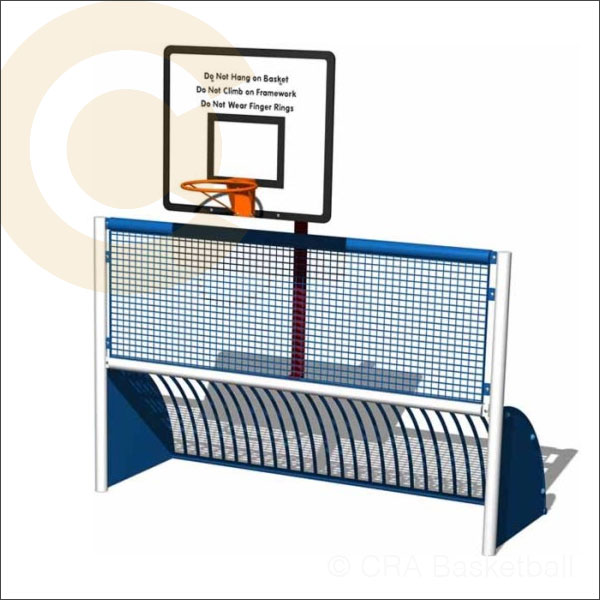 Basketball goal muga unit