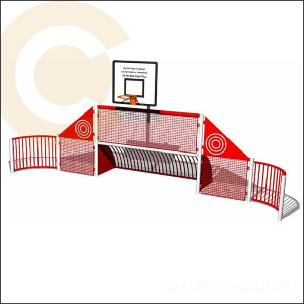 Basketball multi use area sports wall goals