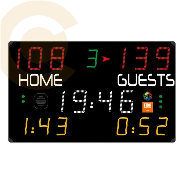 FIBA BASKETBALL SCOREBOARD DISPLAY