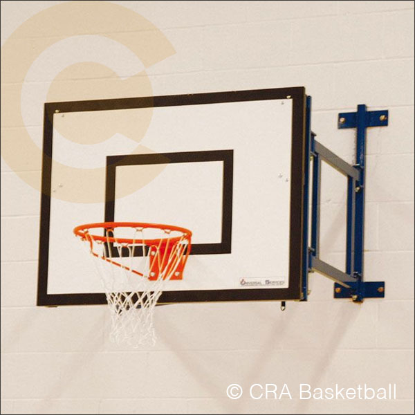WALL MOUNTED FOLDING BASKETBALL GOALS