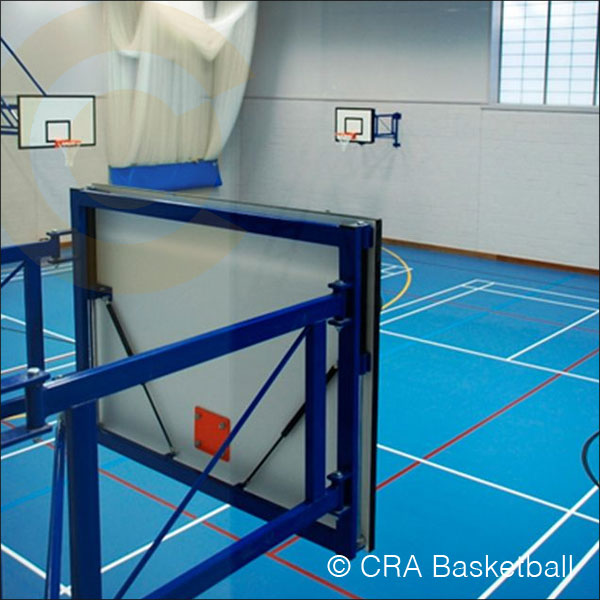 WALL RETRACTING BASKETBALL GOAL