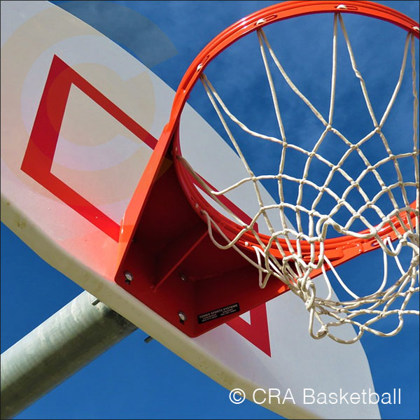 Anti vandal outdoor basketball goals posts