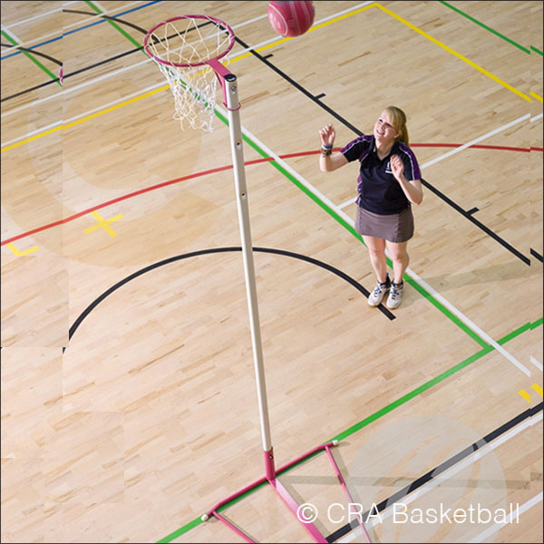 FREESTANDING INDOOR NETBALL POST