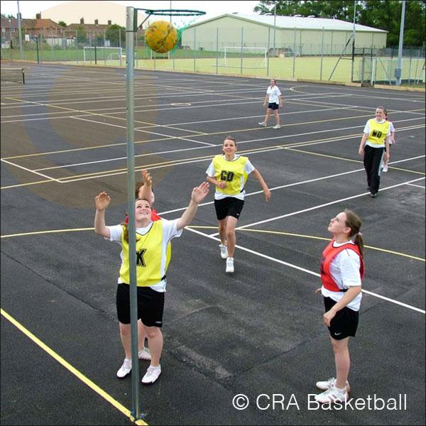 STEEL IN GROUND NETBALL GOALS